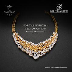Elegantly designed diamond necklace.