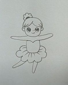 Cute Easy Drawings, Art Drawings For Kids, Pencil Art Drawings, Art Drawings Sketches, Disney Drawings, Drawing For Kids, Art For Kids, Simple Art, Doodle Art