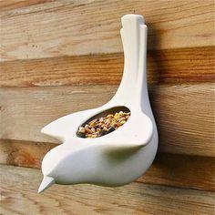wall mounted bird food dispenser