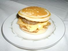 homemade mcgriddle recipe - I love McGriddles! - made these tonight.  I baked my eggs in a square dish at 350 till done, topped with American cheese slices, cut in squares, and used the tip on the blog to add syrup to the top of the pancakes before you flip them.  We also used bacon.  I LOVED them!  I will be making these a lot!  I just made the rest of the batter into silver dollar pancakes for the girls, which they love.