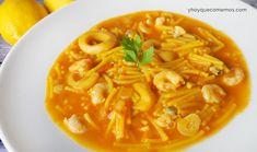 Fideos a la Marinera Spanish Food, Spanish Recipes, Goulash, Thai Red Curry, Stew, Menu, Yummy Food, Ethnic Recipes, Create