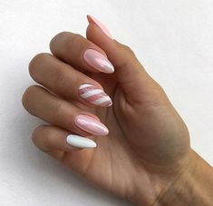 Swirl almond pink and white chrome nails black # Roses … – Birthday Nails And Party Nails – the Source Party Nails, Fun Nails, White Chrome Nails, Pink White Nails, Chrome Nail Art, White Almond Nails, Pink Nail Designs, Almond Nails Designs, Manicure E Pedicure