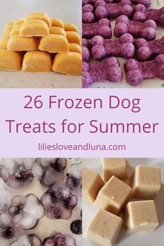 26 frozen dog treats to make for your dog this summer. Frozen Dog Treats, Dog Treat Recipes, Your Dog, Breakfast, Dogs, Summer, Morning Coffee, Summer Time, Pet Dogs