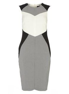 Tall Mono Colourblock Dress