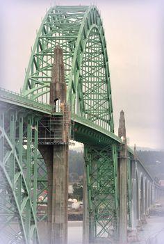 Bridge in Newport, Oregon               9 miles to our #2 home