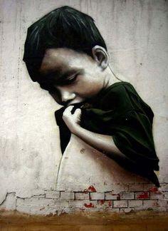 Gorgeous urban artby Dizebi in Spain #dizebi #urbanart #art #streetart #graffiti
