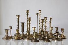 Brass Candle Stick Holders / Little Vintage Rentals New York City