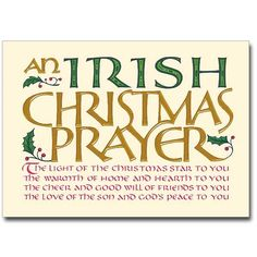 Irish Christmas Prayer.