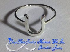 Horse shoe ring, horse shoe, good luck ring, sterling silver horse shoe, handcrafted horse shoe on Etsy, $17.99