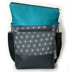 grau geblümt türkis - Hansedelli - Design für Textil und Grafik Diaper Bag, Handbags, Couture, Diy Ideas, Design, Fashion, Leather, Totes, Sewing Patterns