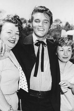 """Elvis on the set of """"Love Me Tender"""", 1956."""