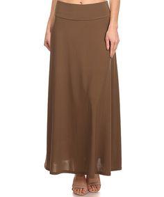 Loving this Mocha Maxi Skirt on #zulily! #zulilyfinds