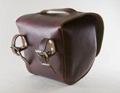 Leather Bicycle Bag, Handlebar Bag, Seat Bag, Saddle Bag, Hand Stitched, Full Grain - Hand and Hide LLC