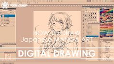 ✔ Digital Drawing - St.1 Rough | How to draw Manga Art 2017.10.11