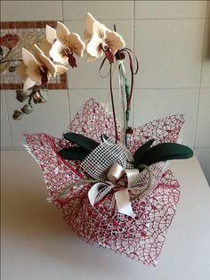 Orchidea feltro by Maria D'Eugenio