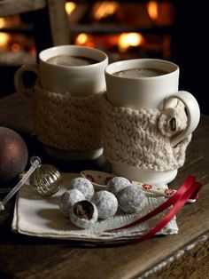 *Hot Cocoa and cookies.