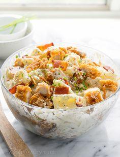 Chicken Bacon Ranch Potato Salad - I Wash... You Dry
