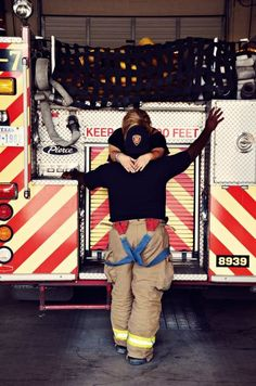 He's a firefighter and she's in love.