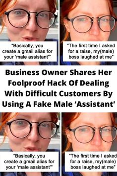 #Business Owner Shares Her #Foolproof Hack Of Dealing With #Difficult Customers By #Using A Fake Male 'Assistant'