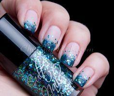 Cult Nails Glitter-Tip Gradient