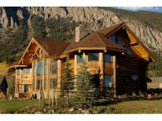 Shangri-La Luxury Log Home , Crested Butte, Co. in Crested Butte Log Cabin Living, Log Cabin Homes, Log Homes For Sale, Mountain Homes, Mountain Cabins, Mountain View, Luxury Log Cabins, Crested Butte, Cabins And Cottages