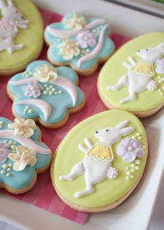 easter birthday parties | Fabulous cookies, made by Tara of Bambella Cookie Company, depicted ...