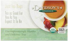 Davidson's Tea Decaf Earl Grey, 100-Count Tea Bags >>> Visit the image link more details.