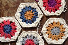 10 Free Hexagon Crochet Patterns