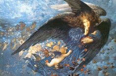 360 Night and Her Train of Stars Oil Painting by Edward Robert Hughes.jpg (360×236)