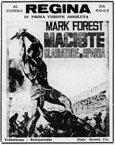 """""""Maciste, gladiatore di Sparta"""" (1964) con Mark Forest MoviePosters #Maciste"""