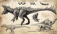 Hyperendocrin Allosaurus by EmilyStepp