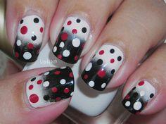 Spotted - Nail Art Gallery by NAILS Magazine-Spots on top of gradient Great Nails, Fabulous Nails, Love Nails, My Nails, Polish Nails, Uñas Sally Hansen, Polka Dot Nails, Polka Dots, Red Dots