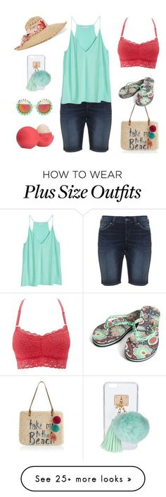 """""""Plus Size - Walk on the beach"""" by elise1114 on Polyvore featuring Accessorize, Silver Jeans Co., Charlotte Russe, Vera Bradley, Gucci, Ashlyn'd, Rad+Refined and Eos #cruiseoutfits2017 #cruiseoutfitsplussize"""