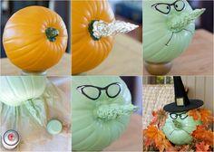 decoration-citrouille-automne-citrouille-sorcière-idée-DIY décoration citrouille