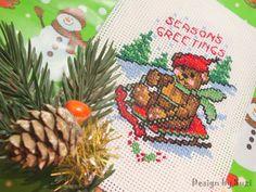 """❆ 3. adventná nedeľa: Pozdravy od macíka ❆ (bear from """"Fast & Festive 50 Christmas Designs"""")"""