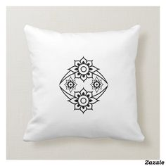 Customizable Throw Pillow made by Zazzle Home. Personalize it with photos & text or shop existing designs! Custom Pillows, Create Your Own, Throw Pillows, Flower, Fabric, Color, Design, Tejido, Toss Pillows