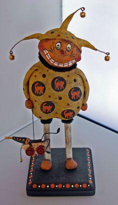 Sculpted Halloween Pumpkin Jack, Boy HOWDIE Folk Art, Dawn Tubbs