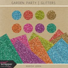 A garden party has so much potential; just add friends, family and photos, and this kit will capture those summer memories! Foam Sheets, Summer Memories, Love Always, Dream Big, Digital Scrapbooking, Pink Purple, Kit, Glitters, Garden