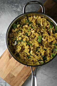 Curried Rice and Cashews, a hug in a bowl, warming, comforting and healing!