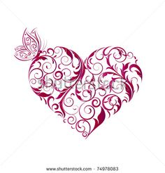 Abstract floral heart.