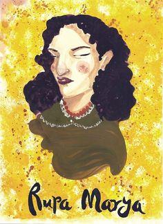 Helin/ Gouache Painting postcard project. Rupa Marya.