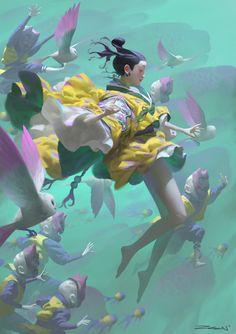 Home / Twitter Fantasy Character, Character Art, Art And Illustration, Fantasy Kunst, Fantasy Art, Cyberpunk Kunst, Digital Painting Tutorials, Cg Art, Japanese Art