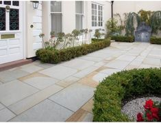 Marshalls Scoutmoor Yorkstone Paving Slabs quarried from premium English York stone. Quality traditional landscaping from Marshalls ✅ Free delivery on all paving in days Sandstone Paving Slabs, Paving Stone Patio, Garden Pavers, Patio Slabs, Paving Stones, York Stone, Garden Room Extensions, Paving Ideas, Garden Features