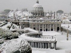 Winter at St Peter's Square, Vatican City