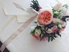 Tender colors or bride wedding flowers