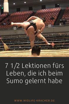 Im Sumo sind einige wertvolle Lektionen fürs Leben versteckt. Und weil ich neun Stunden lang bei einem Turnier in Japan zugesehen habe, hatte ich viel Zeit, über das zu philosophieren, was sich da unten im Ring abspielt. Die ganze Geschichte findest Du auf meinem Blog. #Sumo #Japan #Sumoturnier #sumotori Midlife Crisis, Sumo, Wrestling, Japan, Country, Blog, History, Learning, Nice Asses