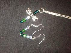 Silver plated dragonfly set