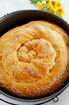 Pita Recipes, Greek Recipes, Cooking Recipes, Greek Cheese Pie, Cheese Pies, Feta Cheese Bread Recipe, Greek Bread, Pizza Tarts, Greek Pastries