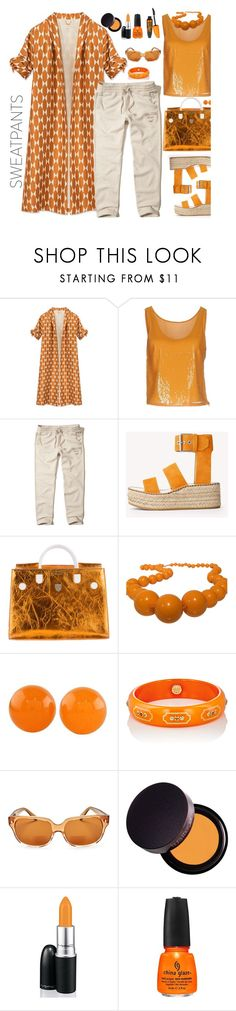 """""""Sweatpants"""" by marionmeyer ❤ liked on Polyvore featuring Tory Burch, Stefanel, Hollister Co., rag & bone, Christian Dior, Furla, NOVICA, Mark Davis, Corinne McCormack and Laura Mercier"""