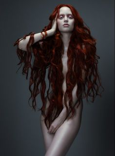 """for-redheads: """" Rapunzel ~ Judith Bedard by Paco Peregrín for TWILL """" This hair color…how do I get this hair color! Beautiful Redhead, Beautiful People, Beautiful Women, Long Red Hair, Long Curly, Up Girl, Belle Photo, Rapunzel, Redheads"""